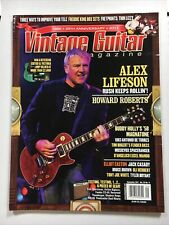 Vintage Guitar Magazine September 2011 Alex Lifeson Howard Roberts