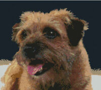 """Terrier Puppy Dog Counted Cross Stitch Kit 12/"""" x 10.5/"""" 30.5cm x 26.5cm D2425"""