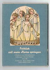DDR Postkarten Fröhlich soll mein Herze springen 1958 Weihnachten Holscher (D7