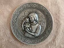 """Hudson Pewter Plate 1980 """"Child with Doll"""" by Albert C. Petitto"""