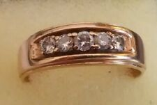 with Diamonds 7.7g Size 14+ (221) 10k Yellow Gold Mans Wedding Band