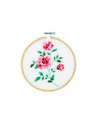 DMC Rose Counted Cross Stitch Kit Complete with Hoop, Needle, Aida and Thread