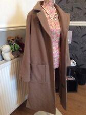 Laura Clement  Beige Pure Wool Coat Size 16 Excellent Cond
