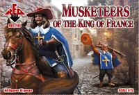 Red Box 72145 - 1/72 - Musketeers of the King of France, scale model plastic. UK