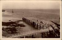 Le Croisic Frankreich CPA 1942 L'Entrée du Port et l'Avant-port Landungsbrücken