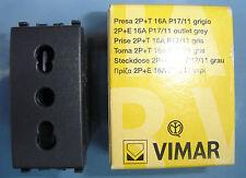 VIMAR 20203 Eikon grigio scuro antracite presa bipasso 2P+T 10/16A P17/11 outlet