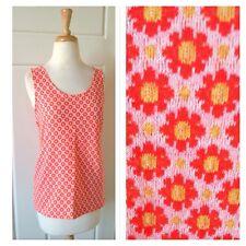 Vintage Tank Top Shirt Flowerpower Boho Hippie Floral Bright Ooak