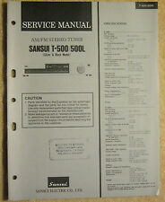 Sansui T-500 T-500L AM/FM Stereo Tuner Service Manual vtg Repair Information