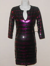 VICTORIA'S SECRET DEEP V SEQUIN DRESS SZ XS
