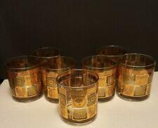 George Briard Golden Celeste Low Ball glasses set of 7