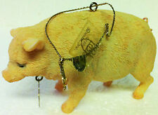 ROMAN INC. Farm PIG Christmas Ornament - 1999 - Swine, Pot Bellied Pig Xmas