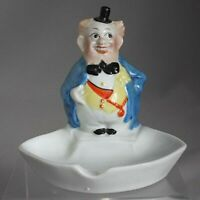 Vintage FIGURAL ASH TRAY Man with Little Hat GERMAN NUMBERED Hand Painted