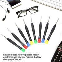 8x Screwdriver Set Eyeglasses Watch Jewelry Watchmaker Repair Tools Kit