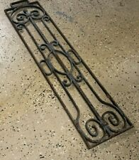 Antique Iron Ornate Scroll Architectural Salvage Window Wall Porch Grate cast
