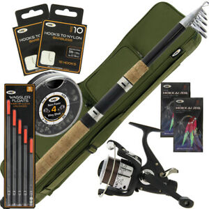 NGT Travel Sea Coarse Fishing Telescopic 10FT Rod and Reel Set Up Tackle Holdall