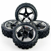 RC 4X 12mm Hex Wheel&Rally tires for HSP HPI 1/10 Off Road Racing Model Car