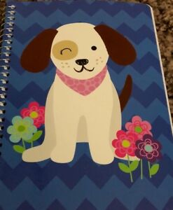 Dog Puppy Chevron  Notebook Back To School 60 Sheets Notepad small 7x5 Tablet