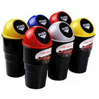 Fashion Car Office Home Auto Waste Trash Rubbish Bin Can Garbage Dust Case   Pg