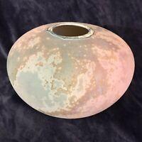 "Tony Evans (1942-2009) Beautiful Raku Pottery Ceramic Centerpiece ~Signed 11""D"
