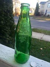 "Vintage Soda Emb."" Bubble Up"" Sculpted Green Bottle Look!"