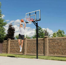 "Lifetime 54"" Steel Frame In-Ground Acrylic Backboard Basketball Hoop System"