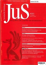 JuS Juristische Schulung 8/2017 - Zeitschrift für Studium und Referendariat