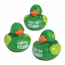Mental Health Awareness Rubber Duckies - Toys - 12 Pieces