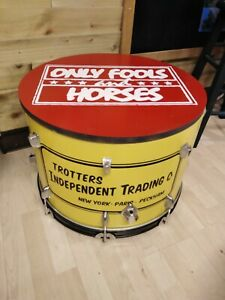 *ONLY FOOLS AND HORSES* Upcycled Bass Drum Coffee/Side Table with storage inside