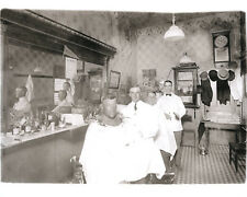 Vintage Barber Shop Barbers Cutting Hair Rexall Clock Michigan Pennant 1915 LOOK