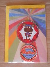 Super Tiny Monkey Handmade Birthday Card