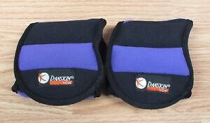 Genuine Danskin Purple & Black 1.5lbs Each Adjustable Ankle Weights Only *READ*