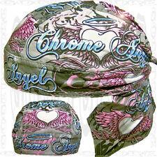 Flying Angel Premium Doo Rag Bandana Du Head Skull Caps Women 1 New Do Pink