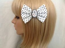 101 Dalmatians hair bow clip rockabilly pin up disney polka dot vintage retro