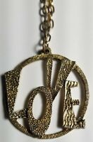 1960's RARE VINTAGE LOVE Pendant Necklace * Never-Used NOS PEACE HIPPIE PROTEST