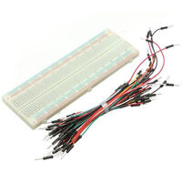 830 Tie Points Solderless PCB Breadboard MB102+65x Jumper cable wire For Arduino