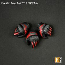 Fire Girl Toys 1/6 Female Hand Types 3pcs Glove Hands Model F 12'' Girl Figure