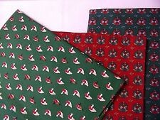 Christmas Fabric Lot 3 Patterns Smaller Prints Quilting Sew Projects SEE DESCRIP