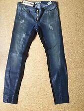Jeans MET Used Look  Mod. Oxford Reptil Waxed Röhre Skinny 29 Stretch NEU