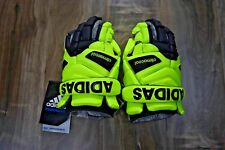 Adidas EQT Berserker G Lacrosse Goalie Gloves Yellow Clima Cool Size 12 MSRP 165