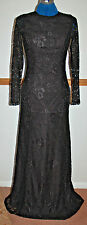New 10 Dress Black Lace Silver Bead Cuff Open Back A Line Skirt Maxi Emo Goth