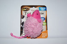 Brand New Pink Plush Mouse Rattle Cat Toy Free Shipping! Help Blind Cat Rescue!