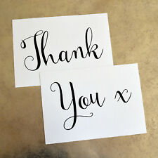 Thank You ~ Hold Up Wedding Sign Props - 260gsm Hammer White Card (2 x A4)
