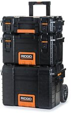 Portable Toolbox Cart Chest Quality Ridgid Rolling-Wheel Tool-Storage-Box (3-pc)