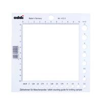 Addi Zählrahmen Nadelmaß für Stricknadeln Nadelschablone 2 - 10 mm Nadeln 412-0