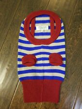 New CANINE STYLES Stripe Merino Wool Small Dog Sweater Size S