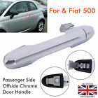 For Fiat 500 Near Side Passenger Side Offside Chrome Door Handle 735592026 UK