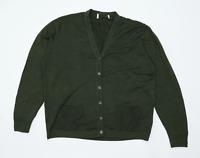 Preworn Womens Size 18 Merino Wool Blend Green Cardigan (Regular)