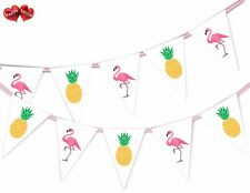 Exotic Summer Bunting Banner 15 flags Flamingo & Pineapple Mix by Party Decor