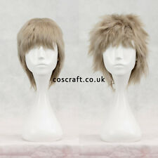 Short layered fluffy spikeable cosplay wig in ash blonde, UK seller, Jack style