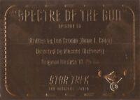 STAR TREK ORIGINAL SERIES 3  GOLD PLAQUE CARDS  G56 TO G79        CHOOSE